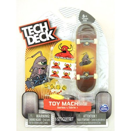 Tech Deck TOY MACHINE Series 1 (Ultra Rare) Jeremy Leabres Skateboard Fingerboard ()