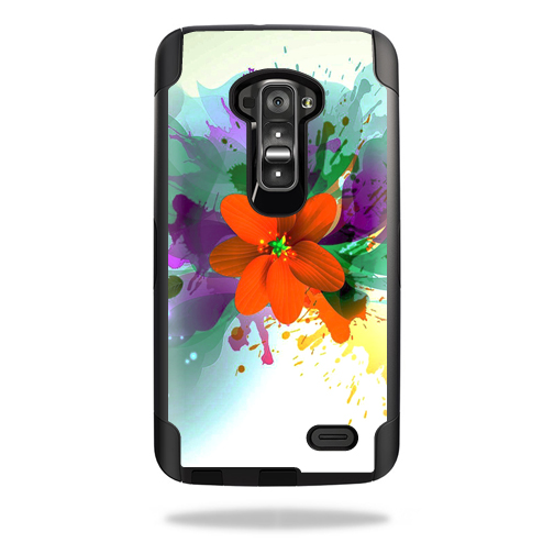 Mightyskins Protective Vinyl Skin Decal Cover for Otterbox Commuter LG G Flex Case cover wrap sticker skins Flower Blast