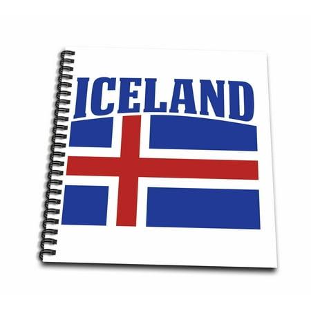 3dRose Patriotic Iceland Flag Icelandic Banner Design - Memory Book, 12 by 12-inch