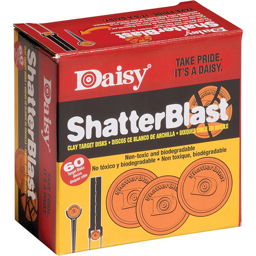 Daisy Model 873 ShatterBlast Clay Targets, Orange, 60pk
