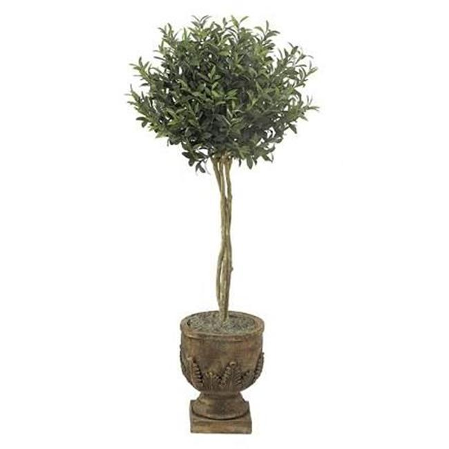 Autograph Foliages W-2625 - 4.5 Foot Olive Ball Topiary - Green