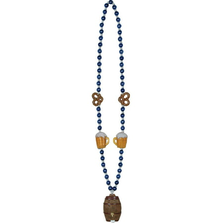 Oktoberfest Beads Keg Medallion Adult Halloween Accessory - Halloween Medallion