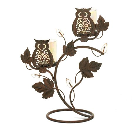 Colored Lanterns (Candle Holders Metal, Owls Decorative Colored Candle Holders For Votive)