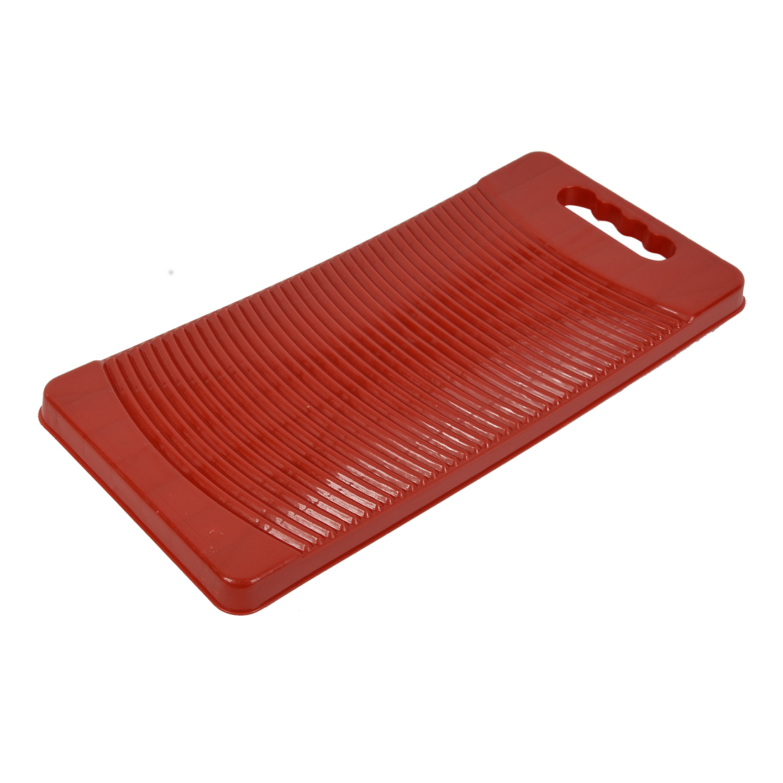 """Household 19.3"""" Length Light and Portable Washboard Washing Clothes Board Red"""