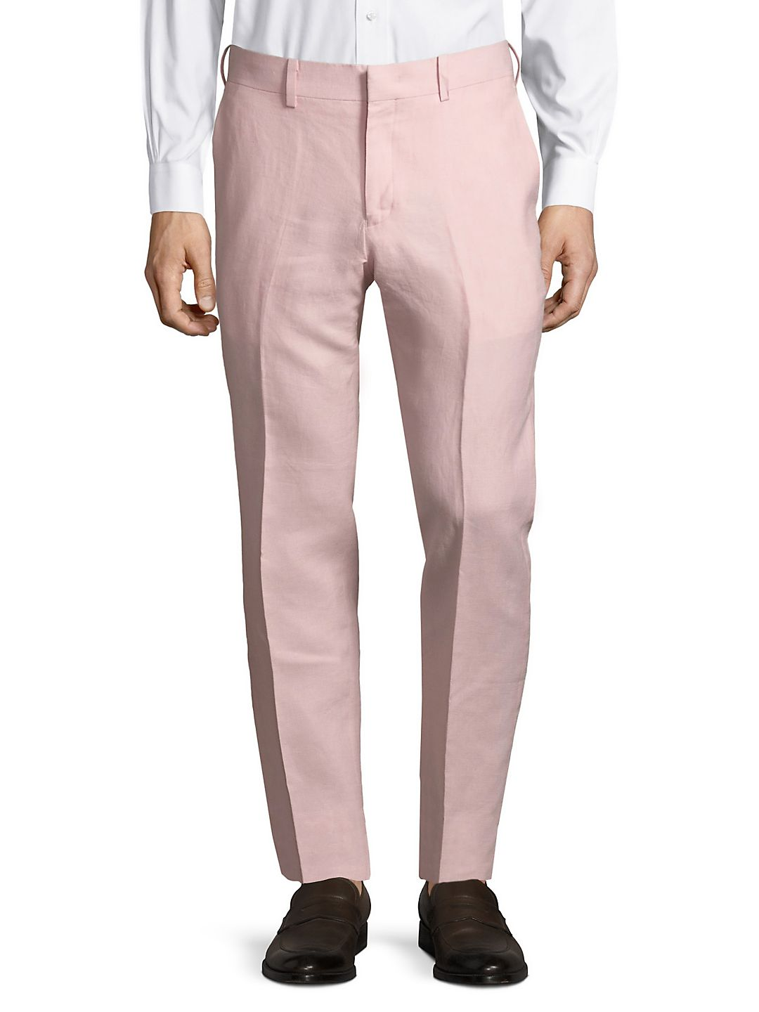Slim-Fit Linen Pants