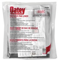 Oatey 41630 Shower Pan Liner Kit, 6 ft L, 5 ft W, PVC, Gray - Cheap Shower Kits