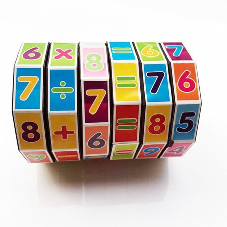 Cylindrical Rubik's Cube Puzzle Toy Gift Children Kid Education Math Learning - Halloween Math Puzzle High School