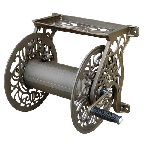 Liberty Decorative Wall-Mounted Hose Reel, Bronze by Liberty Garden