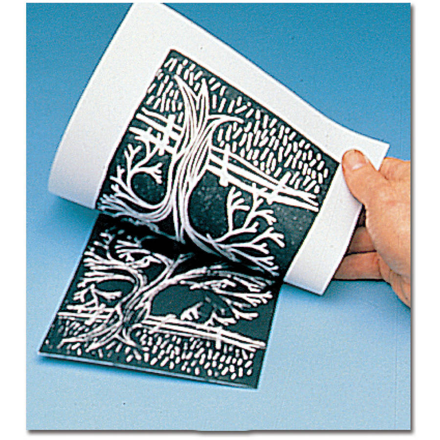 Melissa & Doug Scratch Art Subi Block Printing Paper (9 x 12 inches), White - 100 Sheets