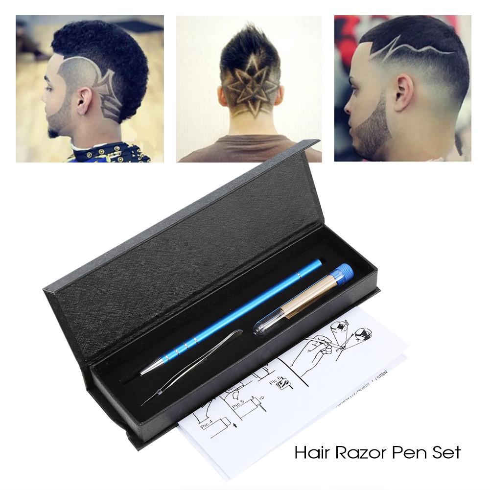Hair Engraving Pen,Razor Pen,5 Colors Multifunctional Professional Salon Beard Hair Styling Magic Engraved Razor Pen