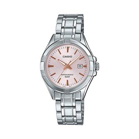 Casio LTP1308D-4AV Women's Stainless Steel Analog Date Pink Dial Watch ()