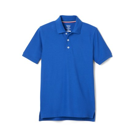 French Toast School Uniform Short Sleeve Pique Polo Shirt (Little Boys & Big Boys) (Pink Cotton Polo Shirt)