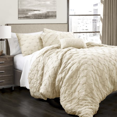 Strick & Bolton  Emin Pintuck 5 Piece Comforter Set by Strick & Bolton