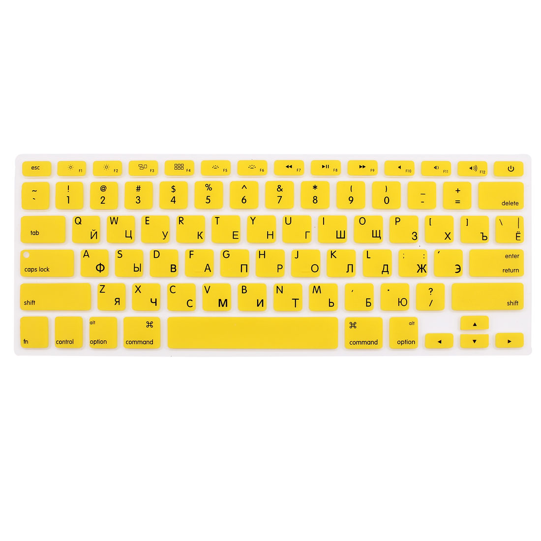 Russian Silicone Keyboard Skin Cover Yellow for Apple Macbook Air 13 15 17  US