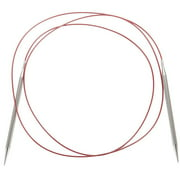 """Red Lace Stainless Steel Circular Knitting Needles 60""""-Size 8/5mm"""