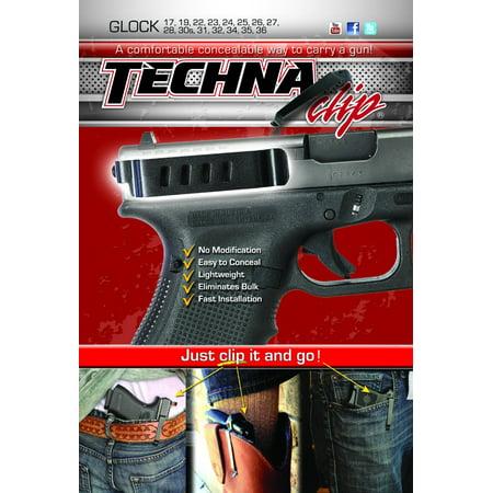 Techna Clip GLOCKBRL Conceal Carry Gun Belt Clip Compatible with Glock 17/19/22/23/24/25/26/27/28/30S/31/32/33/34/35/36 (excluding (Best Glock Trigger For Concealed Carry)