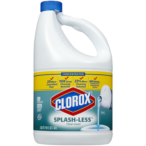 Clorox Splash-Less Clean Linen Scent Bleach, 116 fl oz
