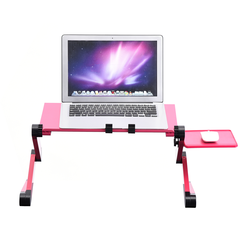 WALFRONT 360° Adjustable Foldable Laptop Desk Table Stand Holder w/ Cooling Dual Fan Mouse Boad, laptop table, adjustable laptop stand
