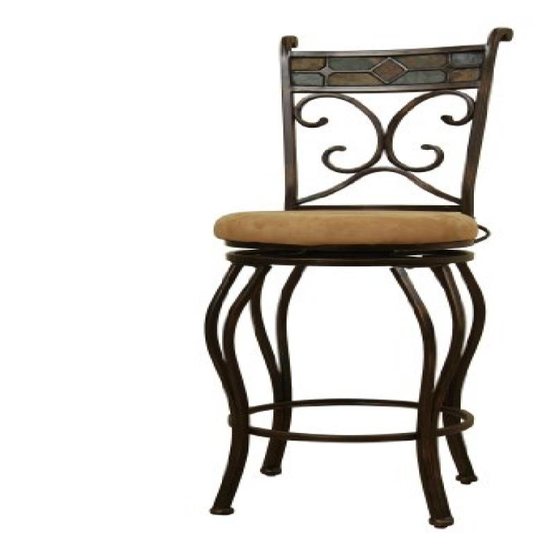 Boraam Beau 24 Quot Swivel Counter Stool Black Gold