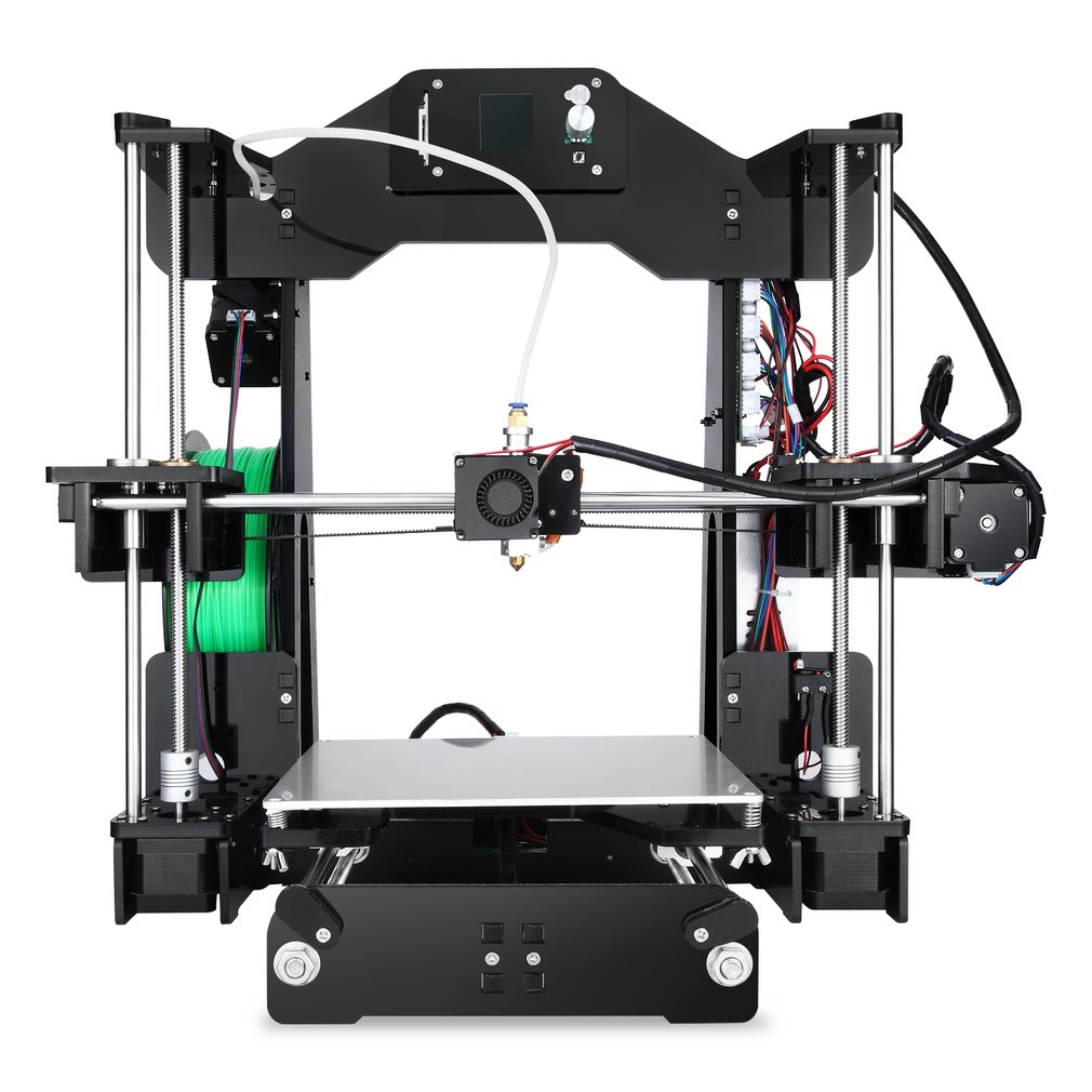 ANET A3 3D Printer Full Assembled Desktop Aluminum Extruder Upgraded Mainboard With LCD screen offline use and 1.75mm Filaments Other Component Support TF card off-line printing without the computer