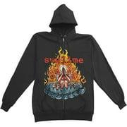 Sublime Men's  Zippered Hooded Sweatshirt Black