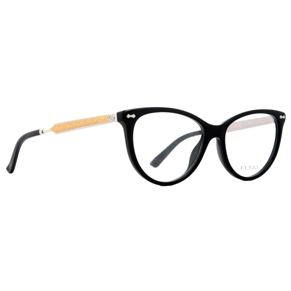 3fefe28478 Gucci GG 3818 CSA 53mm Black Gold Silver Women s Cateye Eyeglasses -  Walmart.com