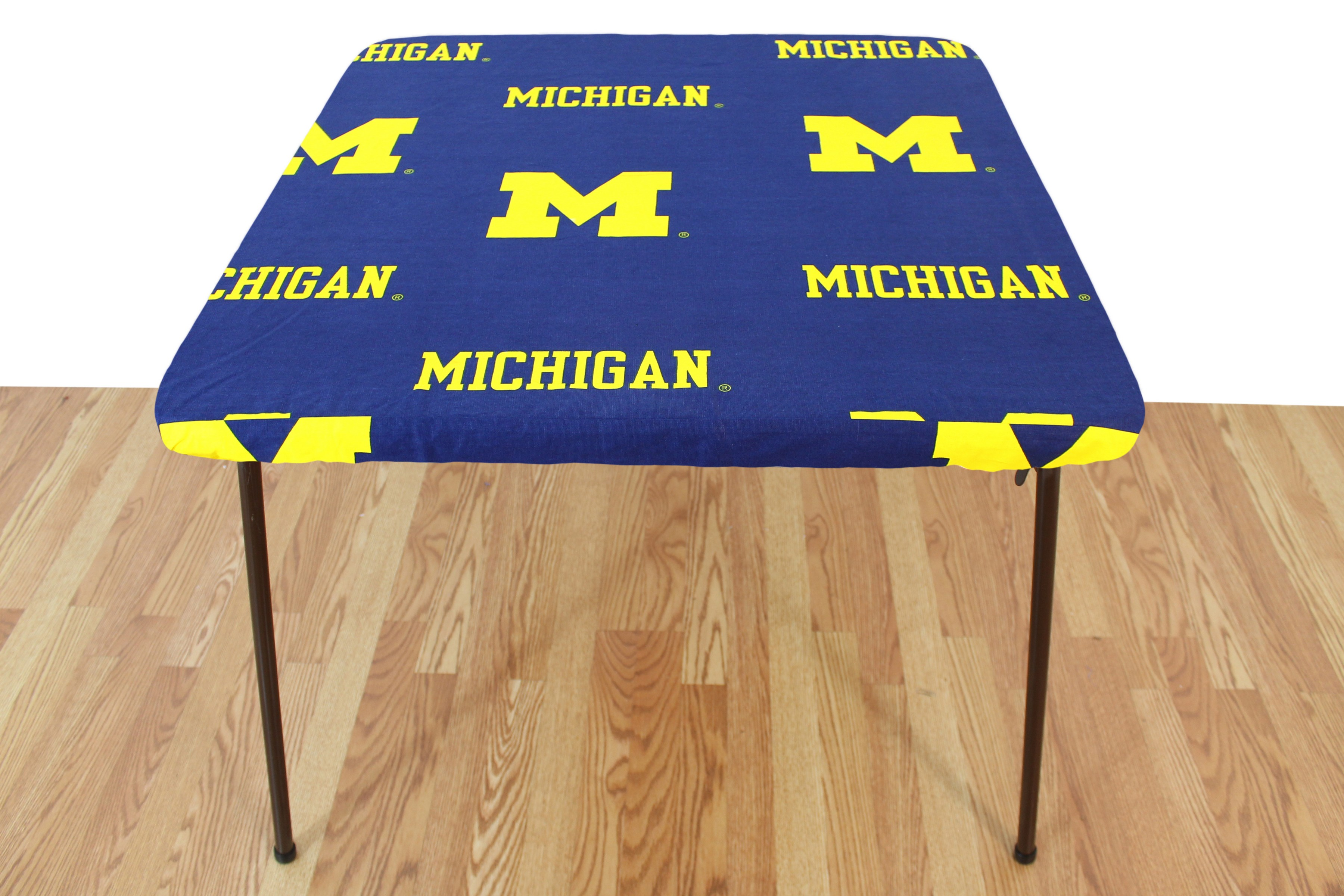 College Covers Fan Shop Michigan Wolverines Fitted Card Table Cover 33 x 33 in by Supplier Generic