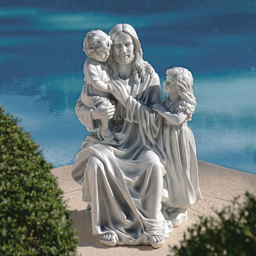 Design Toscano Jesus Loves The Little Children Garden Statue by Design Toscano
