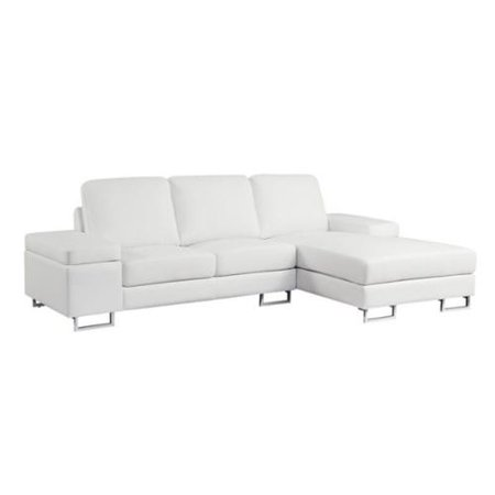 Groovy Coaster Avila Leather Sectional In White Creativecarmelina Interior Chair Design Creativecarmelinacom