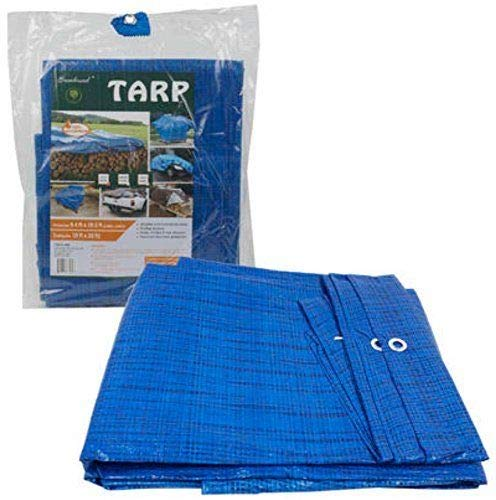 10 ft X 16 ft Waterproof Multi Purpose Blue Tarp Poly Cover for Roof Car