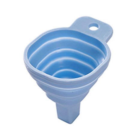 Mini TPR Foldable Collapsible Funnel Shampoo Soy Sauce Dringk Hand Soap Hopper Kitchen Cooking Tools - image 1 of 10