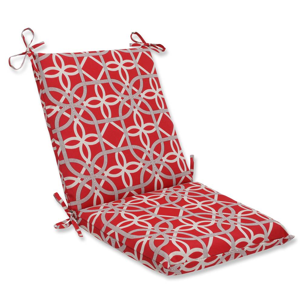 Pillow Perfect Outdoor/ Indoor Keene Cherry Squared Corners Chair Cushion