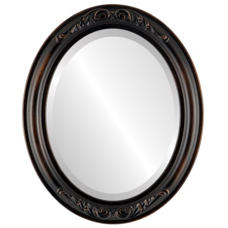 The Oval and Round Mirror Store Florence Framed Oval Mirror in Rubbed Bronze - Antique Bronze - Florence Antique Mall