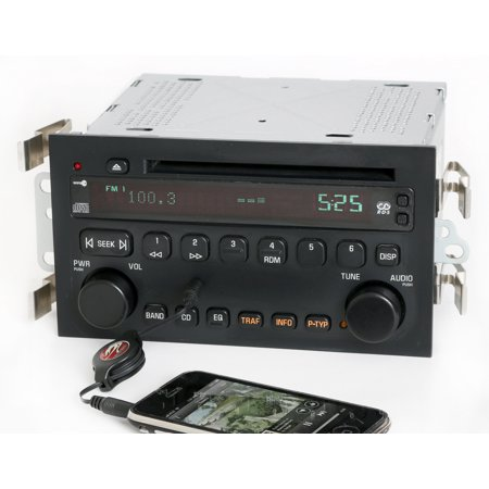 Buick LeSabre 2003-2005 Radio AM FM CD Player w Aux Input - Part Number 25734854 - Refurbished