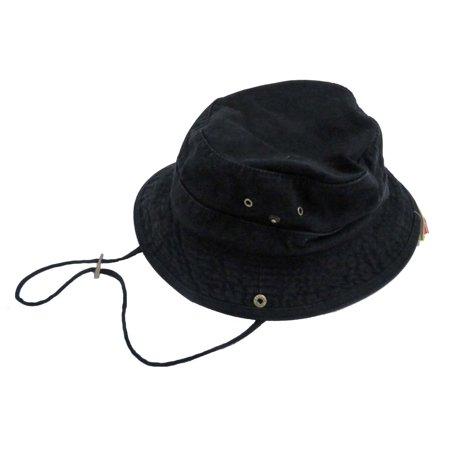 Dorfman Pacific Men's Twill Black Bucket Hat