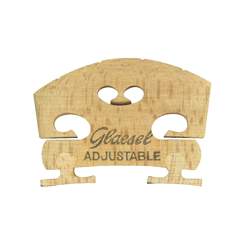 Click here to buy Glaesel Self-Adjusting 1 2 Violin Bridge Medium by Glaesel.