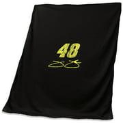Jimmie Johnson 54'' x 84'' Logo Sweatshirt Blanket - Black - No Size