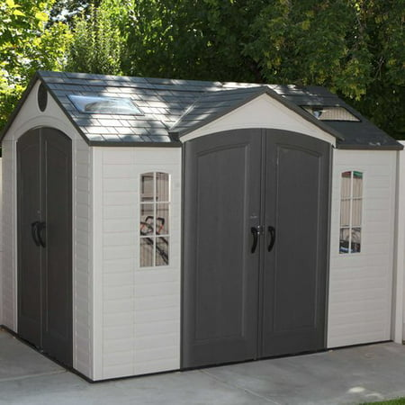 Lifetime 9 ft. 7 in. W x 7 ft. 7 in. D Steel Storage Shed