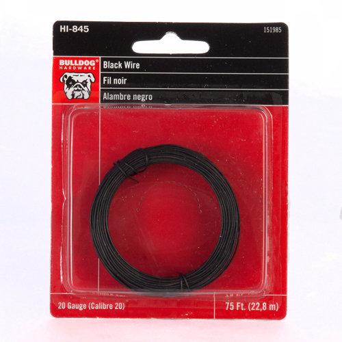 Bulldog Wire, 75', Black