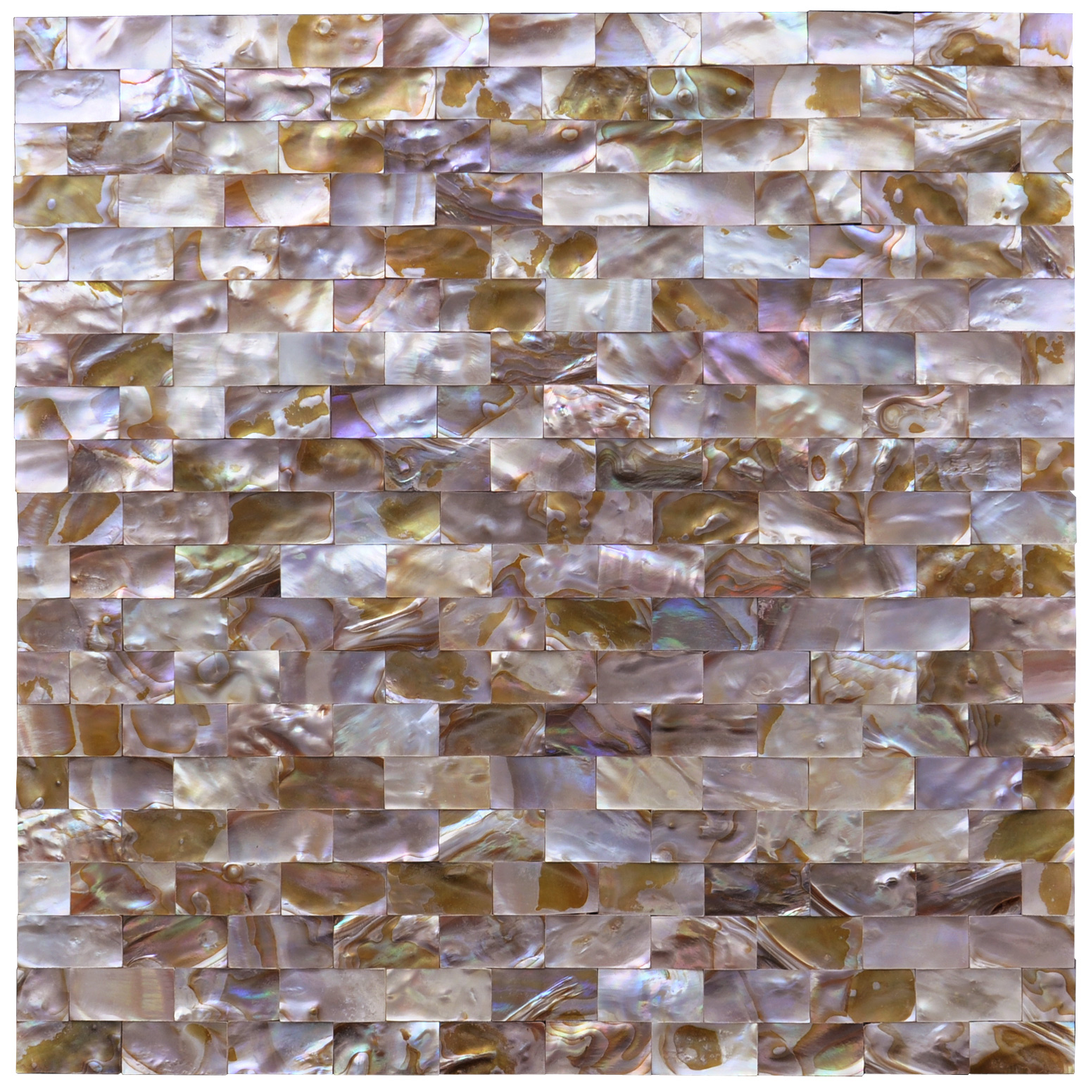 "Art3d Mother of Pearl Mosaic Tile for Kitchen Backsplashes, Shower Walls, Pool Tile, Colorful Subway, 12"" x 12"""