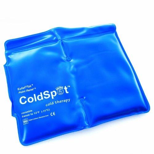 "Relief Pak heavy-duty black urethane reusable cold pack, oversize (11 x 21"")"