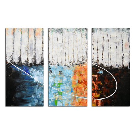 OMAX Decor Blocks of Fire and Ice Wall Art - Set of 3