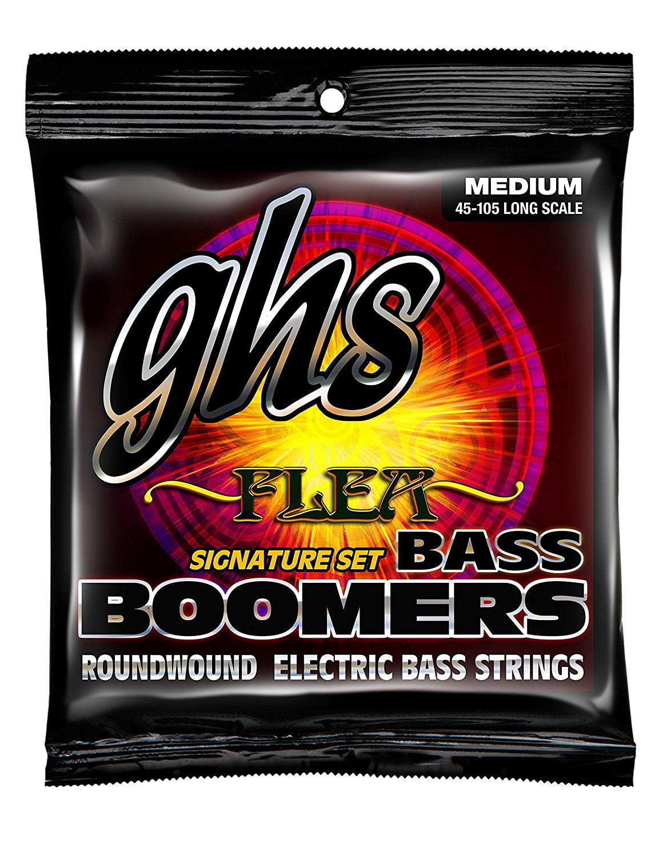 M3045F Nickel Plated Bass Guitar Strings, Medium, GHS Strings M3045F Flea Signature Series... by