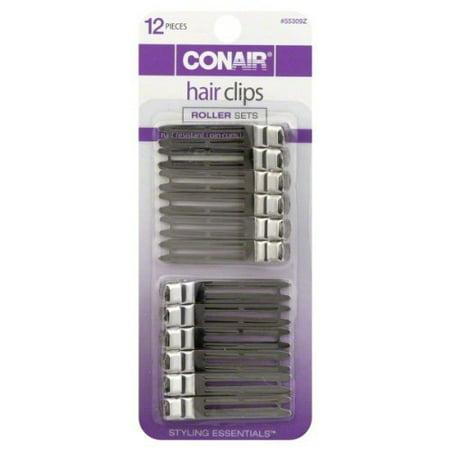 Conair Chrome Plated Hair Clips - 12 Piece (Haier Plate)