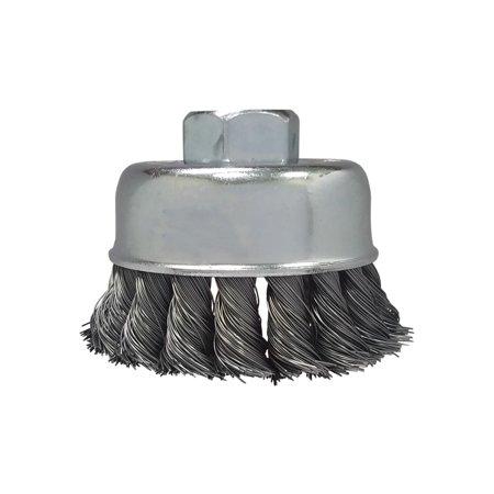 "Zenith Industries ZN306015 Twist Knot Cup Brush, 2-3/4""x.020""x5/8-11"""