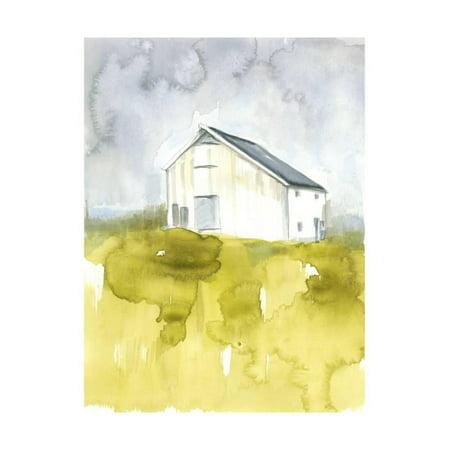 White Barn on Citron I Print Wall Art By Jennifer - Citron Dragon