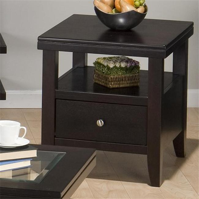 Jofran 091-3 End Table with Wood Top  Drawer and Shelf