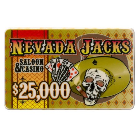 $25,000 Nevada Jack 40 Gram Ceramic Poker
