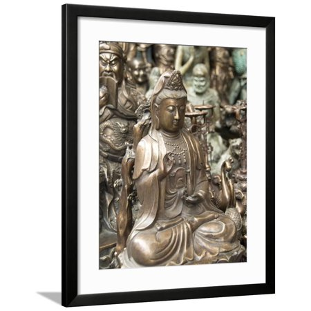 Antiques and Crafts For Sale, Panjiayuan Market, Beijing, China, Asia Framed Print Wall Art