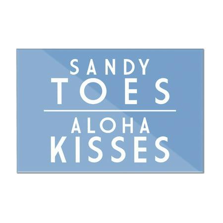 Sandy Toes, Aloha Kisses - Simply Said - Lantern Press Artwork (12x8 Acrylic Wall Sign)
